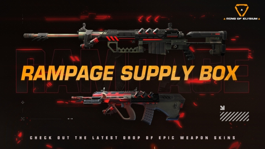 Check out the latest drop of Weapon Skins- the RAMPAGE Supply Box!
