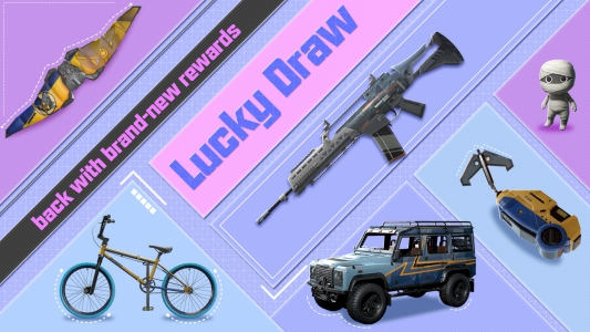 Lucky Draw has been updated for Season 7. Test your luck today to draw exclusive skins!